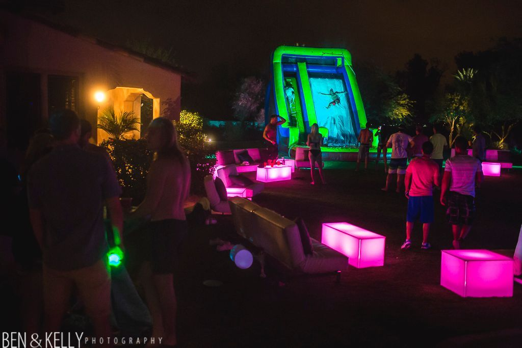 Pool Party Lighting Ideas covered pool dance floor sets the tone for an awesome dance party Cake With Neon Lights Google Search