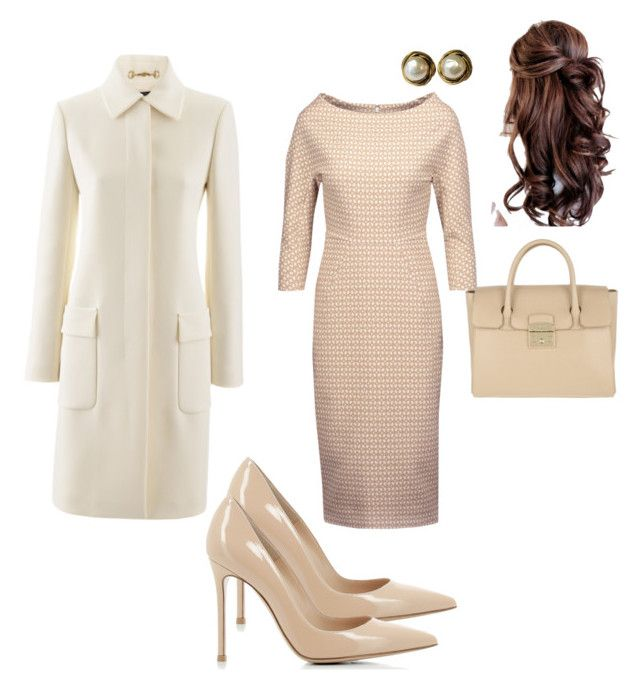 """""""Work"""" by cgraham1 on Polyvore featuring Lela Rose, Gianvito Rossi, Furla, Gucci and Chanel"""