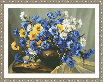 Bouquet of Blue - Cross Stitch Pattern