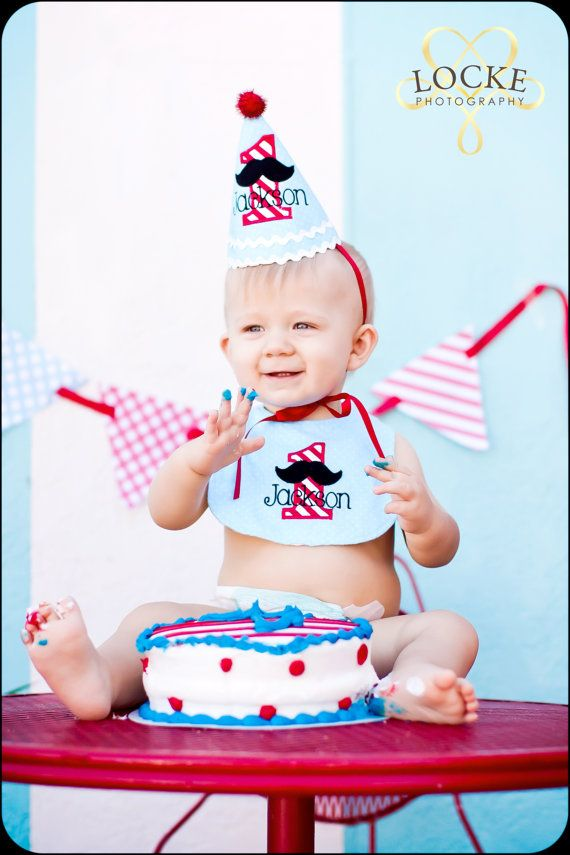 Boys First Birthday Mustache Hat And Bib Cute By DaintyCouture