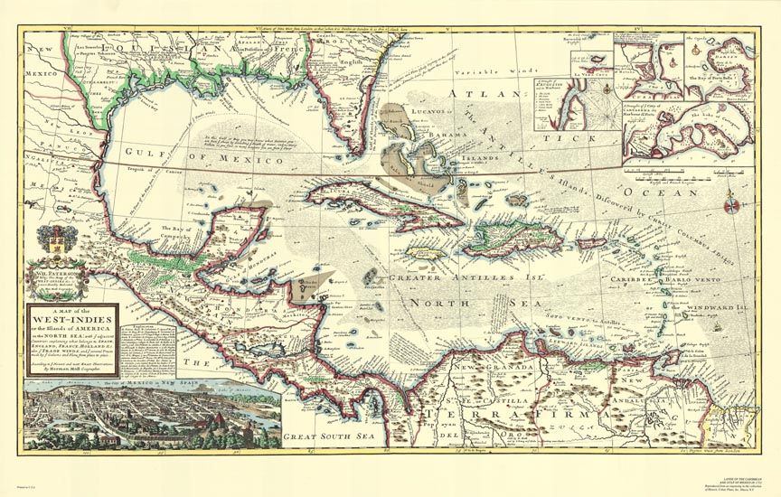 Pirates of the caribbean west indies map mural poster west pirate treasure map background details about pirates of the caribbean west indies map mural poster gumiabroncs Image collections