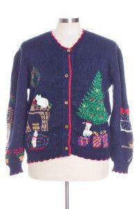 Blue Ugly Christmas Cardigan 30917