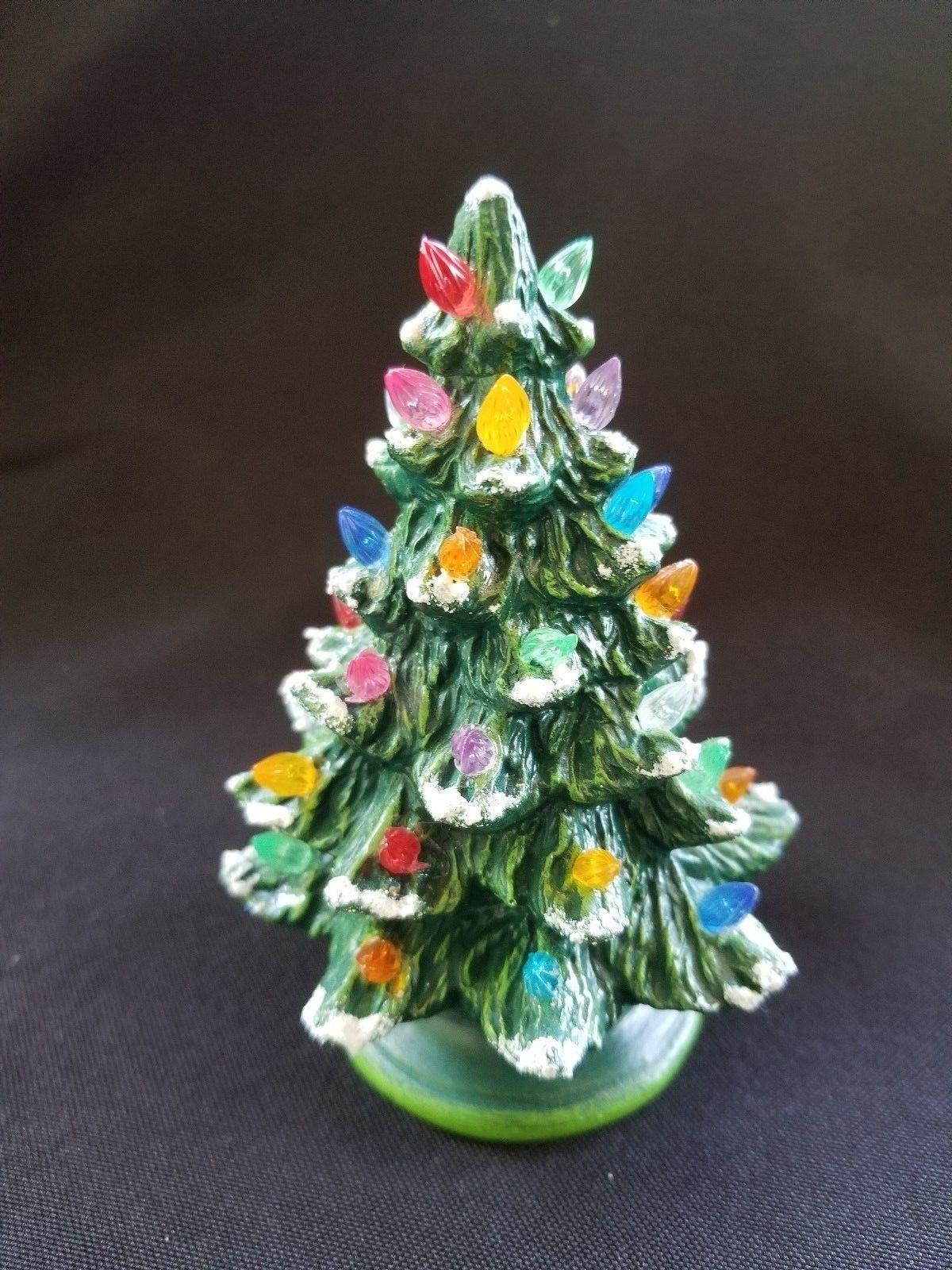 4 5 Mini Plastic Christmas Tree With Bulbs
