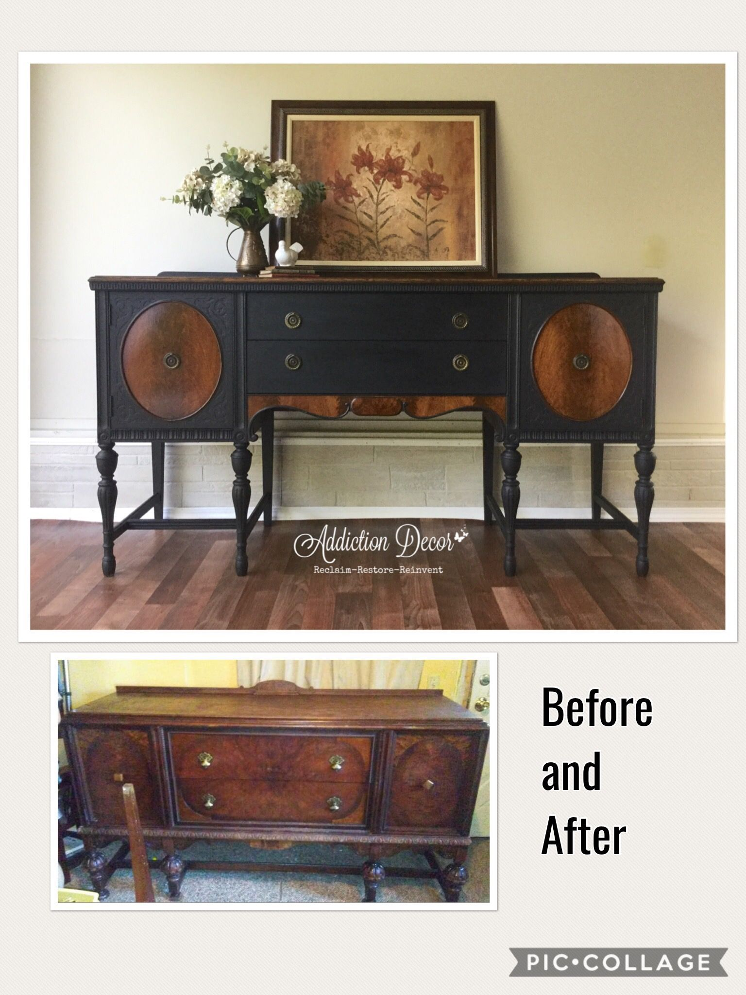 Before and After Sideboard Buffet by Addiction Decor Furniture
