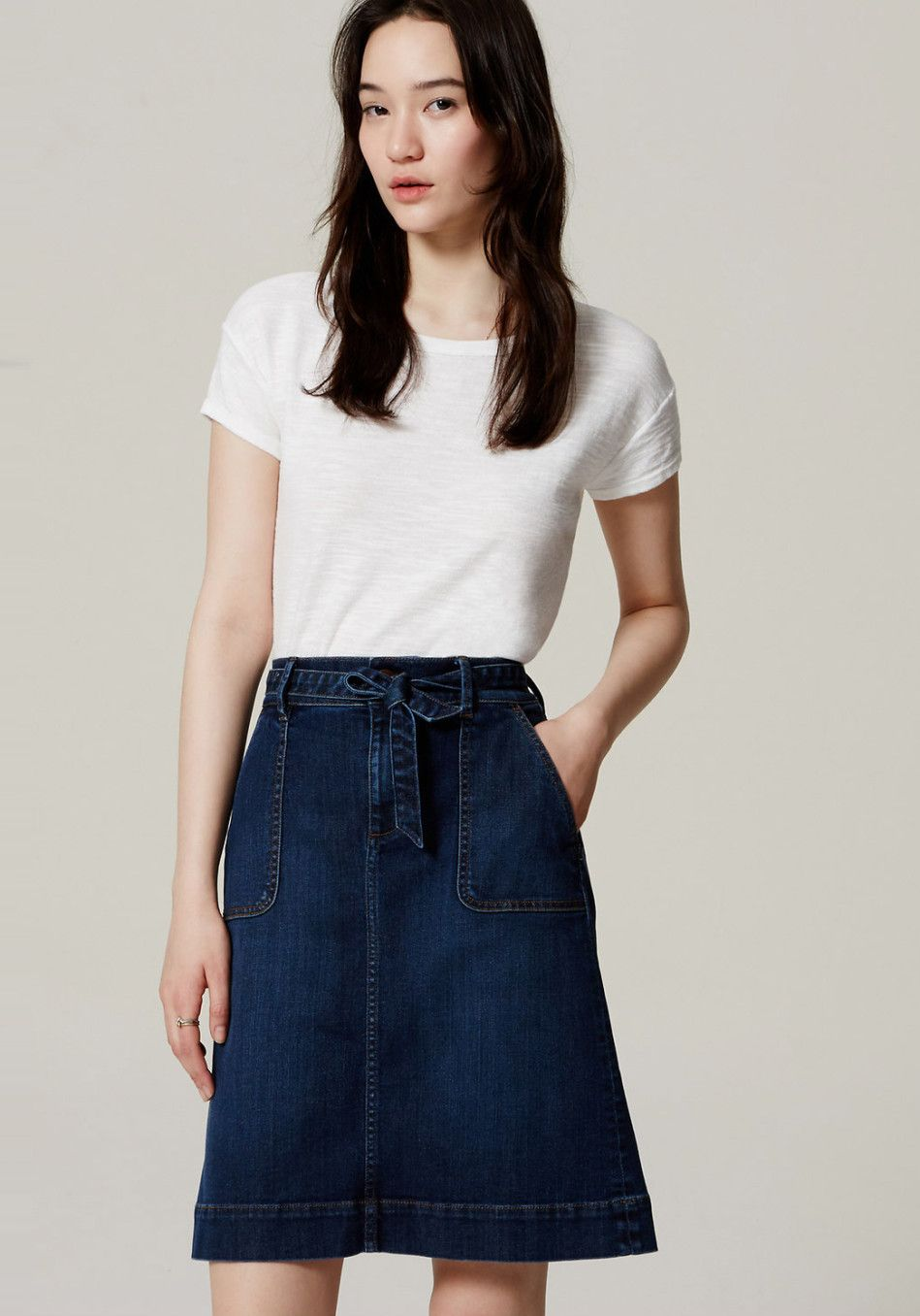 If it's time to give the ol' dark jeans a break from their weekly wardrobe rotation, enter this tie-waist skirt. Its casual A-line fit and just-above-the-knee length make it an easy alternative to your go-to denim.