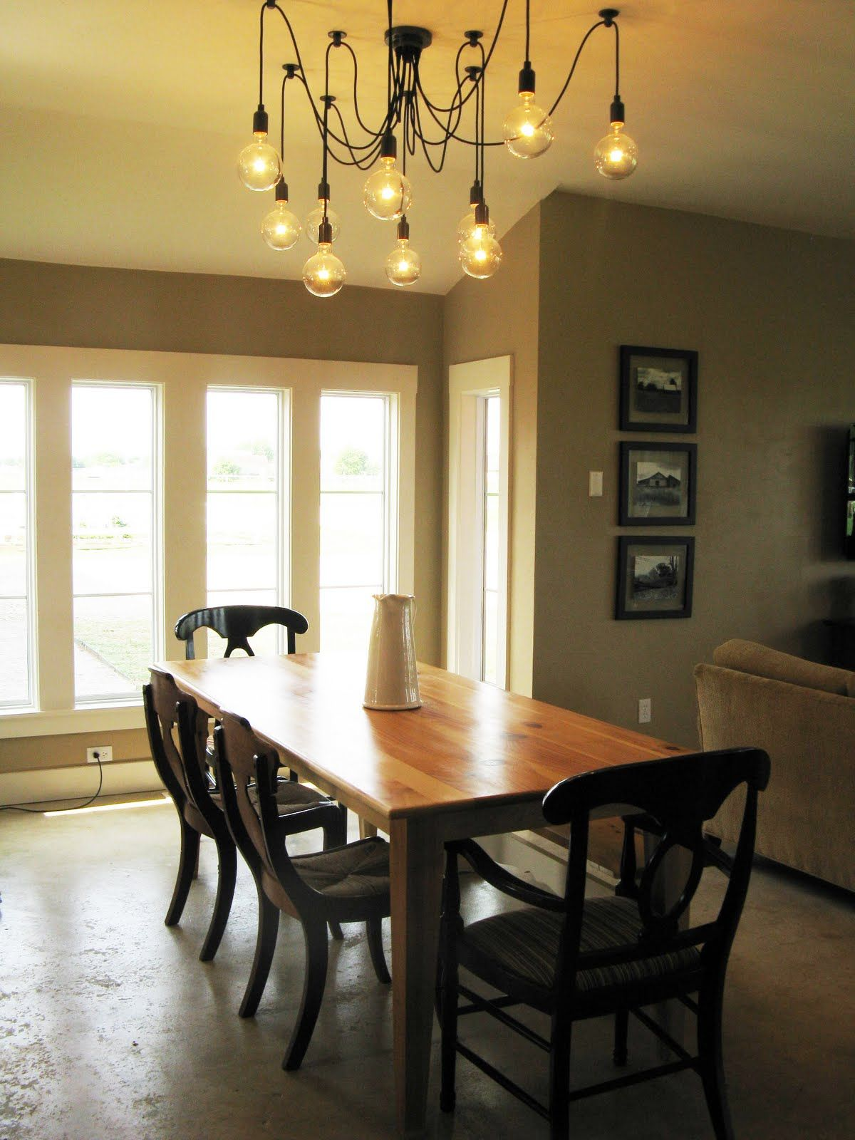 country dining room light fixtures. dinning room table light fixture  Favorite Farmhouse Feature Edison Chandelier