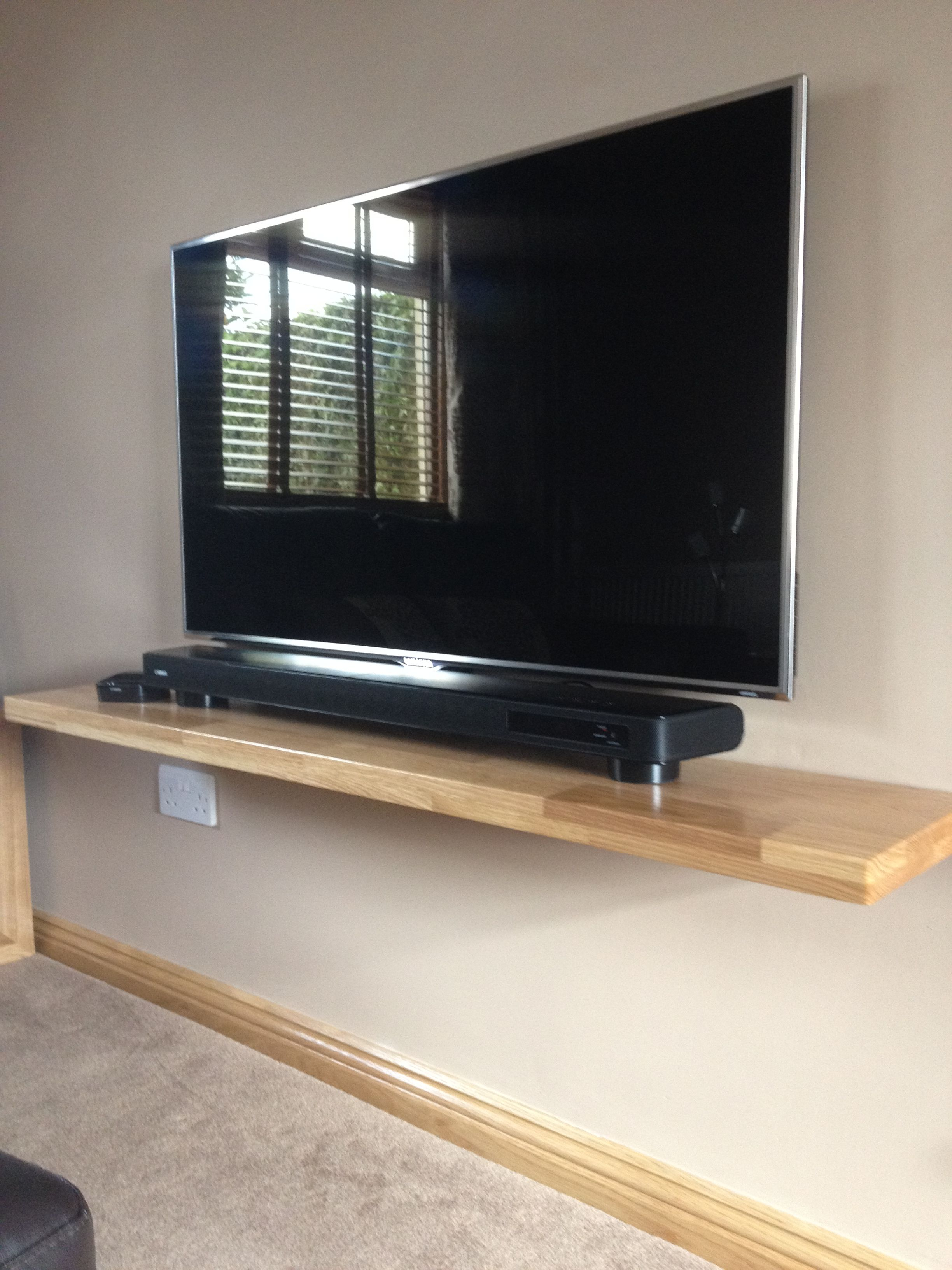 One Of Ours Solid Oak Floating Shelves Used To Support A