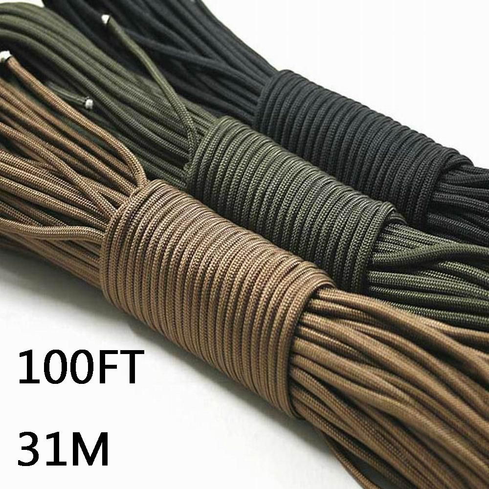4mm 7 Inner Strand Core Cord 550 Paracord Parachute Rope Lanyard Survival 31m UK