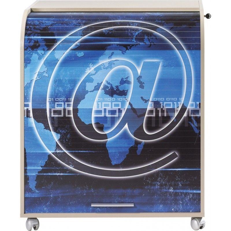 Bureau Informatique A Rideau Taupe Imprime Arobase Must Lestendances Fr En 2020 Rideau Taupe Rideaux Informatique