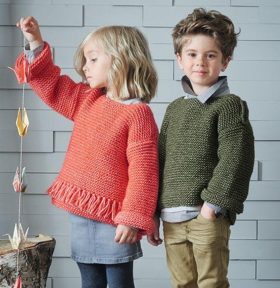 mod le pull paulettes laine frimas mod les enfant paulettes et phildar. Black Bedroom Furniture Sets. Home Design Ideas