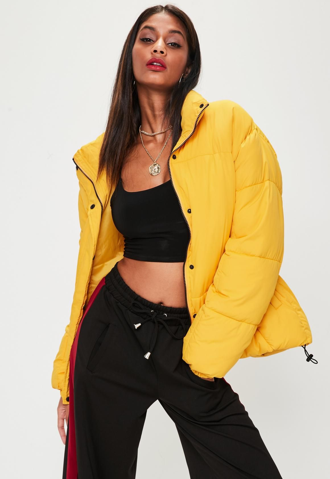 Yellow Ultimate Oversized Padded Jacket Yellow Puffer Jacket Coats Jackets Women Puffer Jacket Outfit [ 1680 x 1160 Pixel ]
