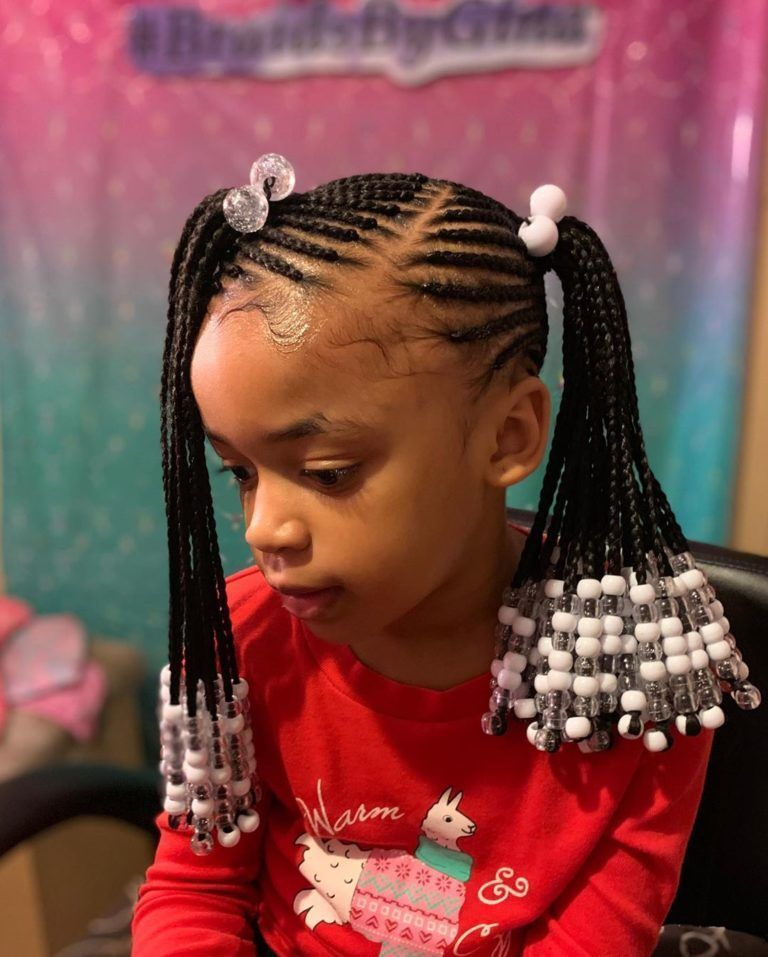 Braids For Kids 100 Back To School Braided Hairstyles For Kids In 2020 Blackb Blackb Braided Br In 2020 Kids Braided Hairstyles Braids For Kids Kids Hairstyles