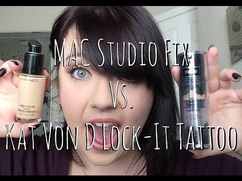 b024da3dc394b MAC STUDIO FIX VS. KAT VON D. LOCK-IT TATTOO FOUNDATION - YouTube ...