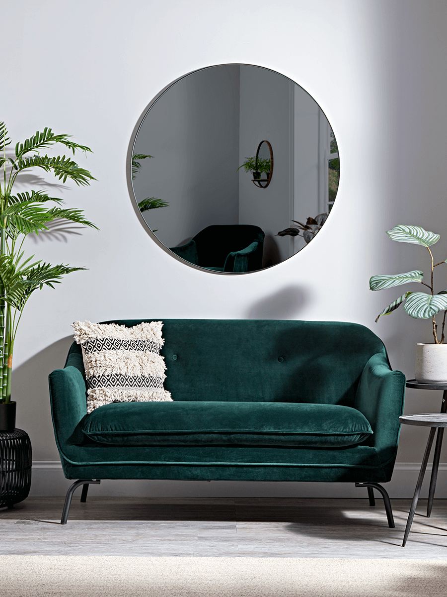 Forest Green Velvet Occasional Sofa In 2019 Green Sofa