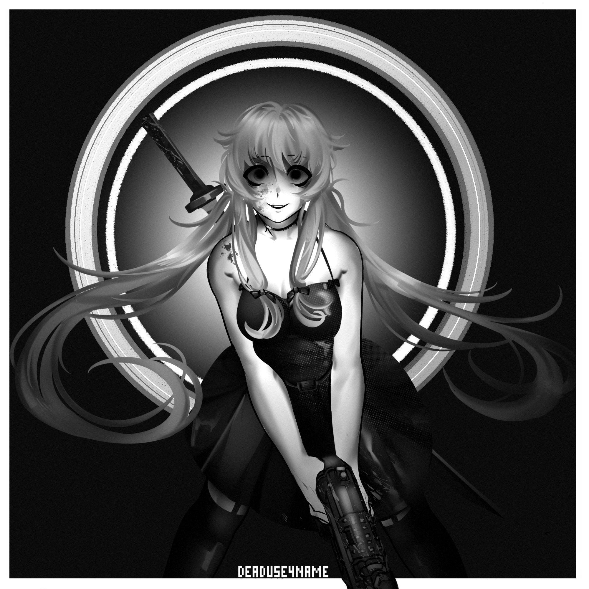 Pin Na Doske Black And White Anime [ 2000 x 2000 Pixel ]