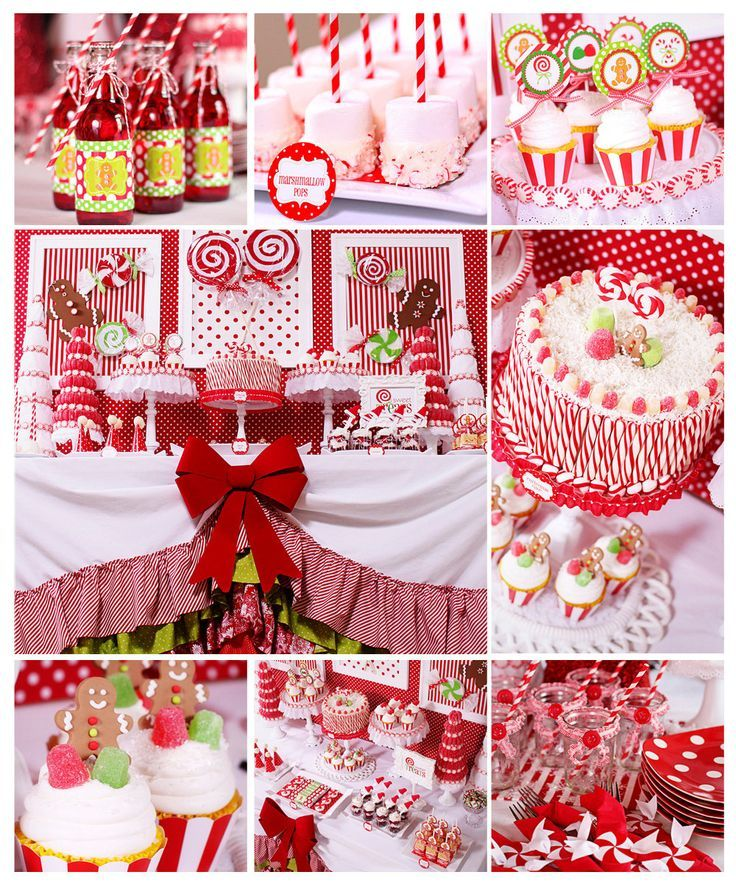 Beautiful High School Christmas Party Ideas Part - 9: Candy Christmas Party {Christmas Party Theme} This Candy Christmas Party  Table Features Lots Of DIY Projects And Ideas Including Styrofoam  U201ccandies,u201d Santa ...
