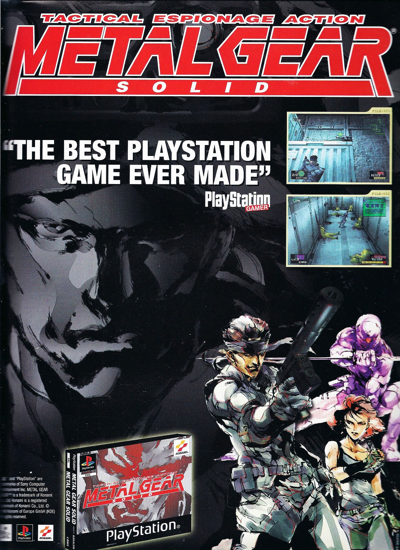 Metal Gear Solid Ps1 Playstation Advert Metal Gear Solid
