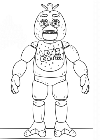 FNAF Toy Chica Coloring page | fnaf and fan games | Pinterest ...