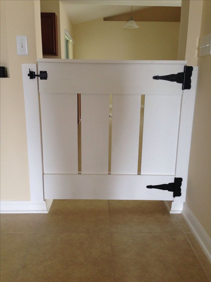 Homemade Wood Baby Gate Built By Ed Starnes Baby Pinterest