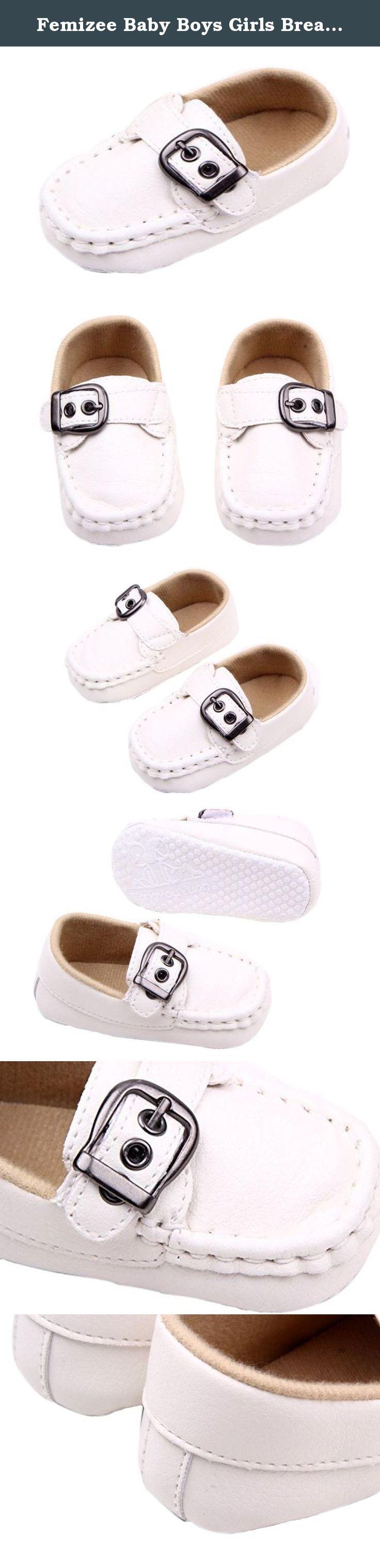 Femizee Baby Boys Girls Breathable Soft Sole Slip on Crib Shoes