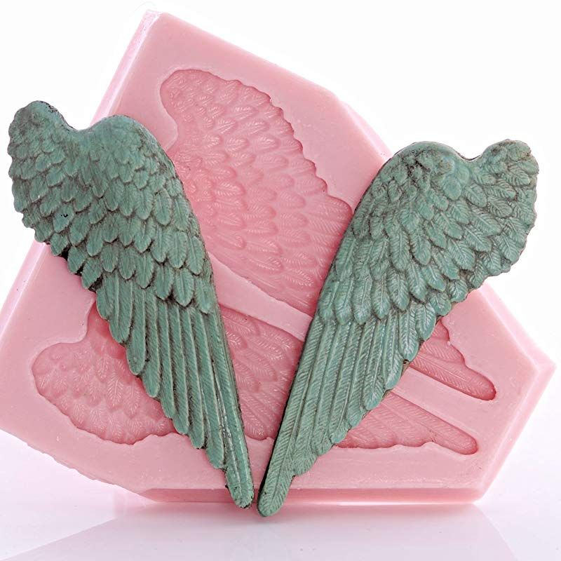 Angel wing silicone mold food safe fondant candy gum