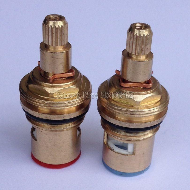 1 Pair High Standard1/2 Ceramic Disc Cartridge Water Mixer Tap Inner ...