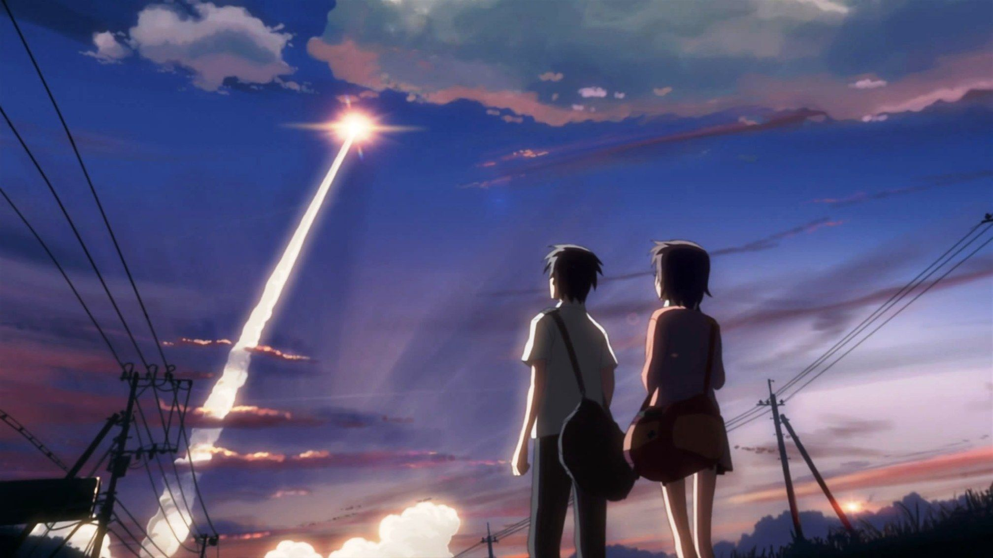 Anime 1920x1200 anime 5 Centimeters Per Second 桜の壁紙, 風景の