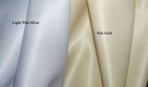 """Pale Gold / Silver duchess satin fabric 2 pieces of 21""""x15"""" wide fabric"""
