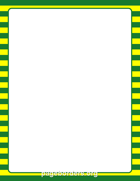 Green And Yellow Striped Border New Papre Page Borders