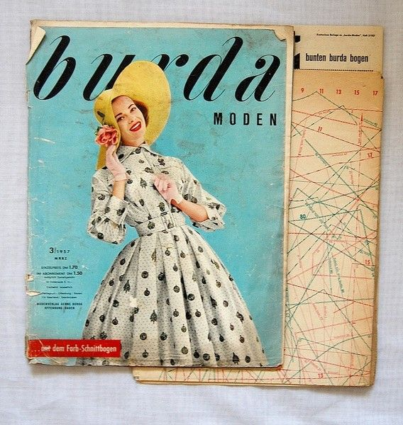 50er Burda Schnittmuster 3 / 1957 | 50er jahre | Pinterest | Burda ...