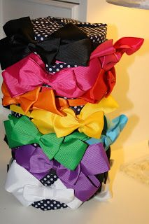 The Obsessive Crafter: Tutorial: How to make a little girls headband holder