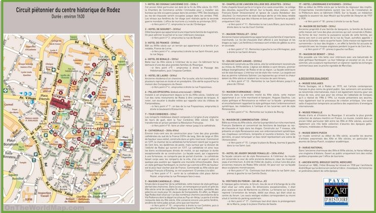 Rodez city center map Maps Pinterest