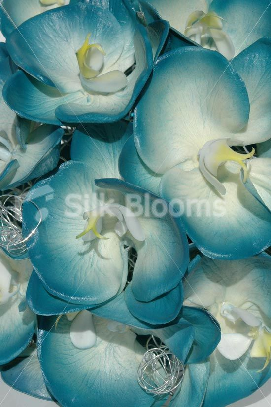 Turquoise real touch orchid artificial bridal wedding bouquet turquoise real touch orchid artificial bridal wedding bouquet mightylinksfo