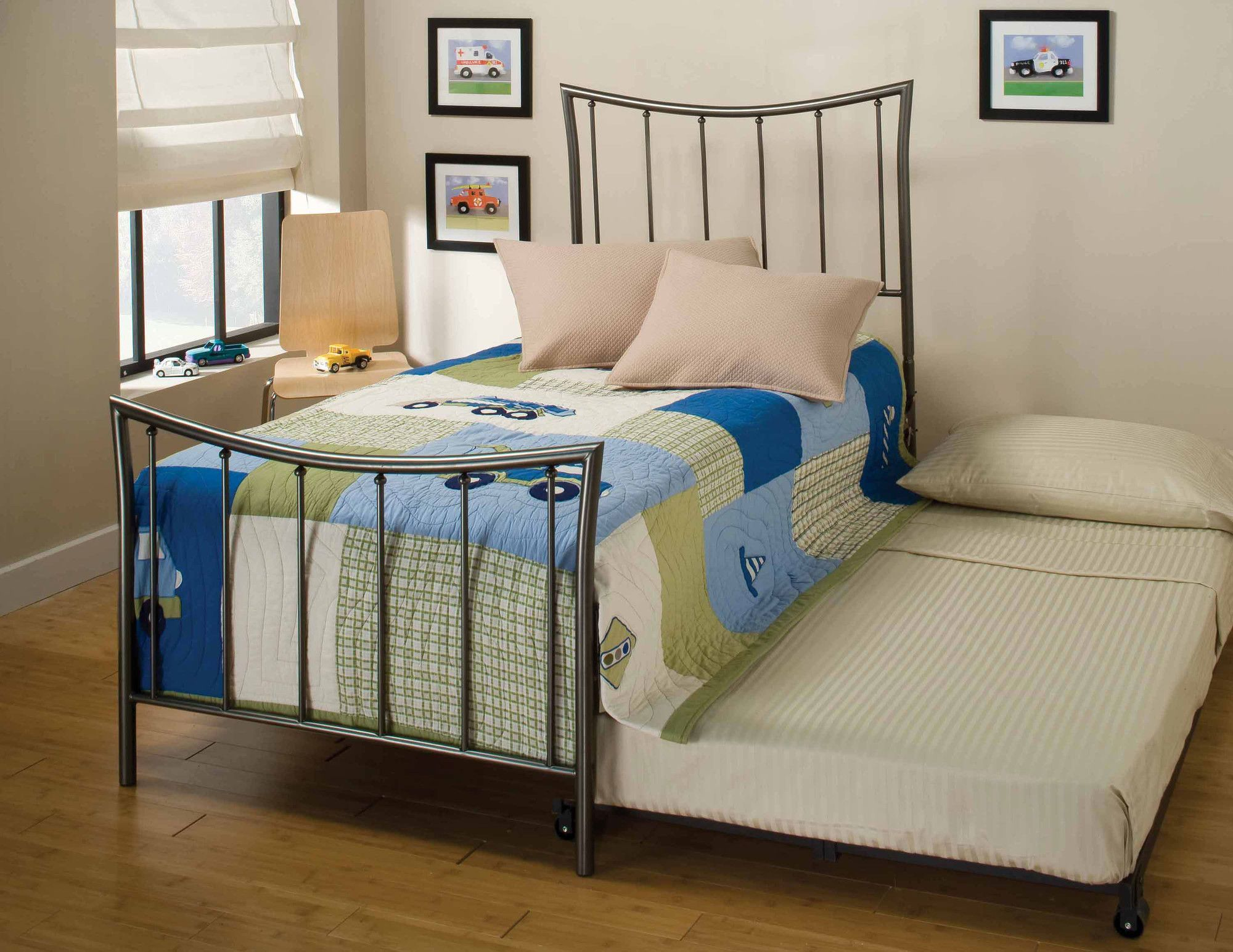 hillsdale edgewood twin wrought iron bed with trundle contemporary