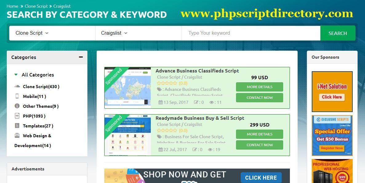 Craigslist Clone Script is a classified advertisements