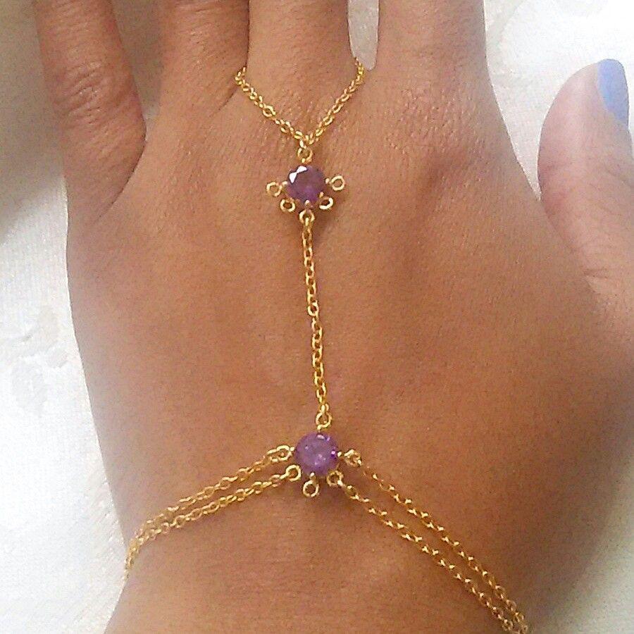 Amethyst hand chain