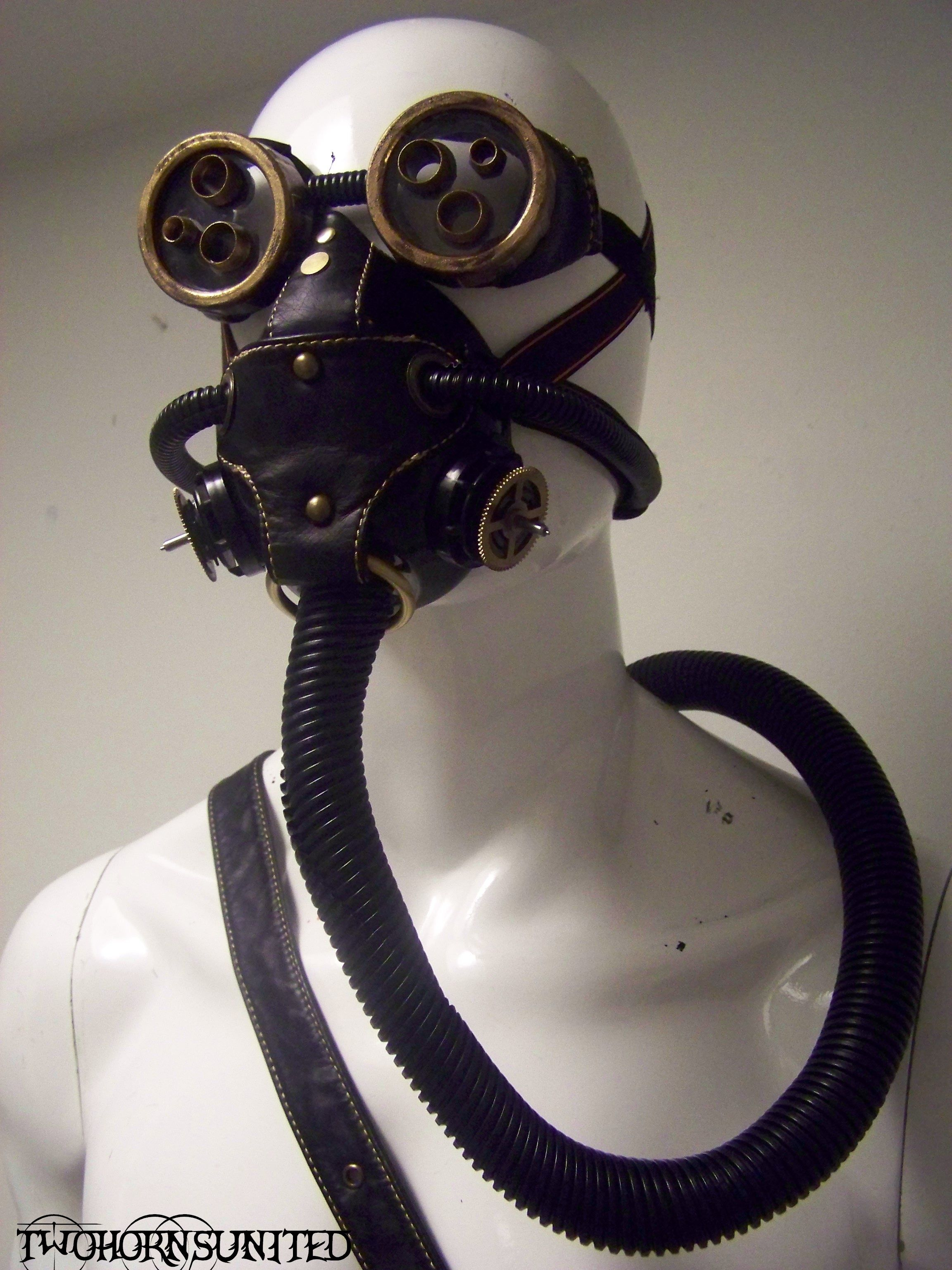 Steampunk mask, goggles, and tank w/belt for sale! by ...