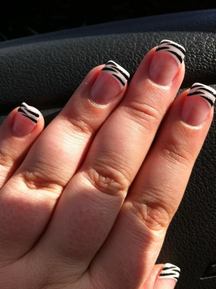 My zebra nails :) | Pretty nails | Pinterest | Zebra nails, Make up ...