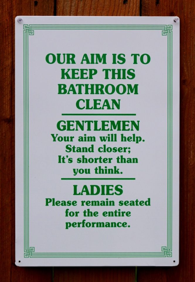 Pin Our Aim Bathroom Clean Tin Metal Sign Humor Funny