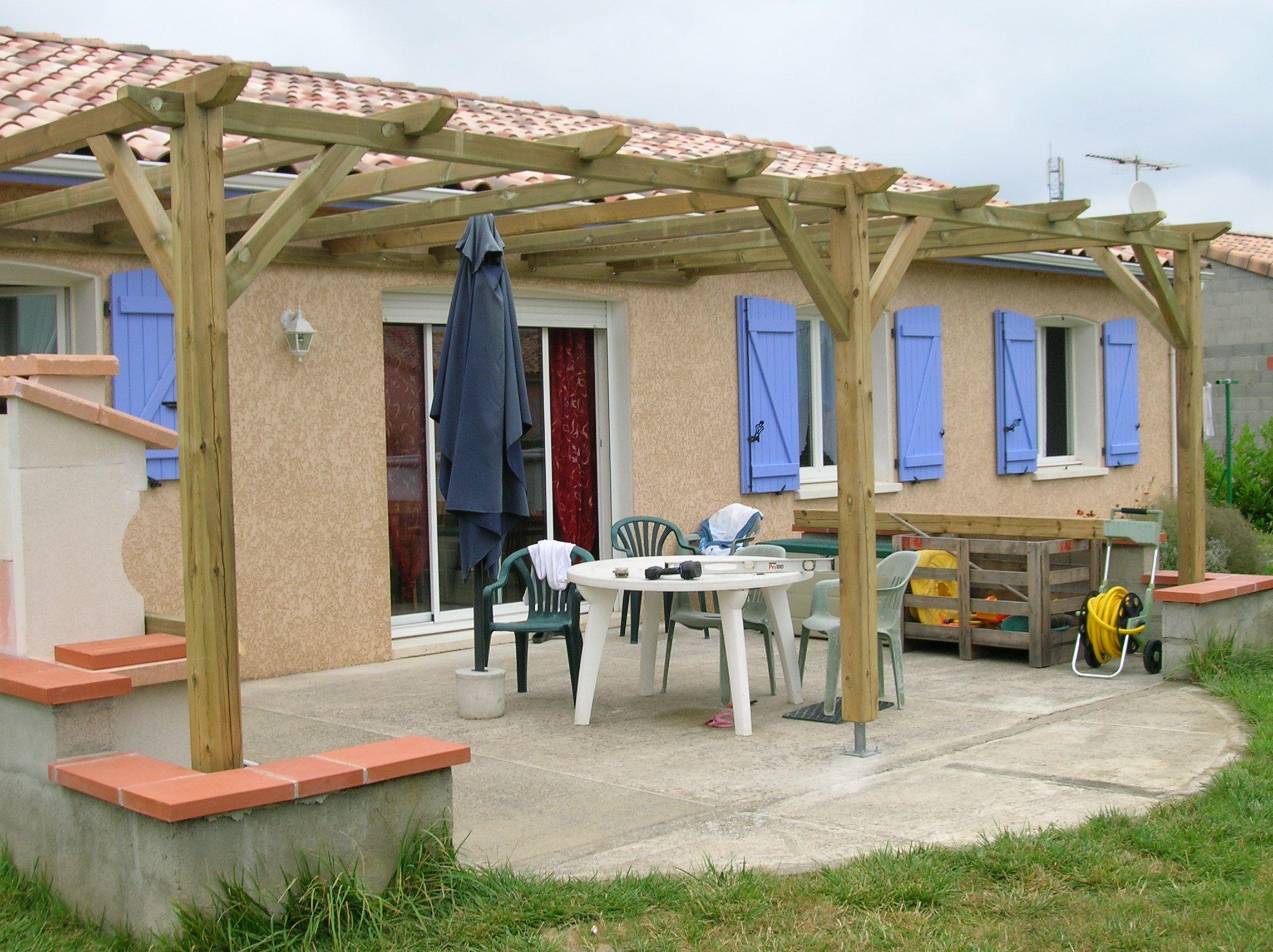 Fabriquer Une Tonnelle En Bois pergola bois autoclave | construire pergola bois, pergola