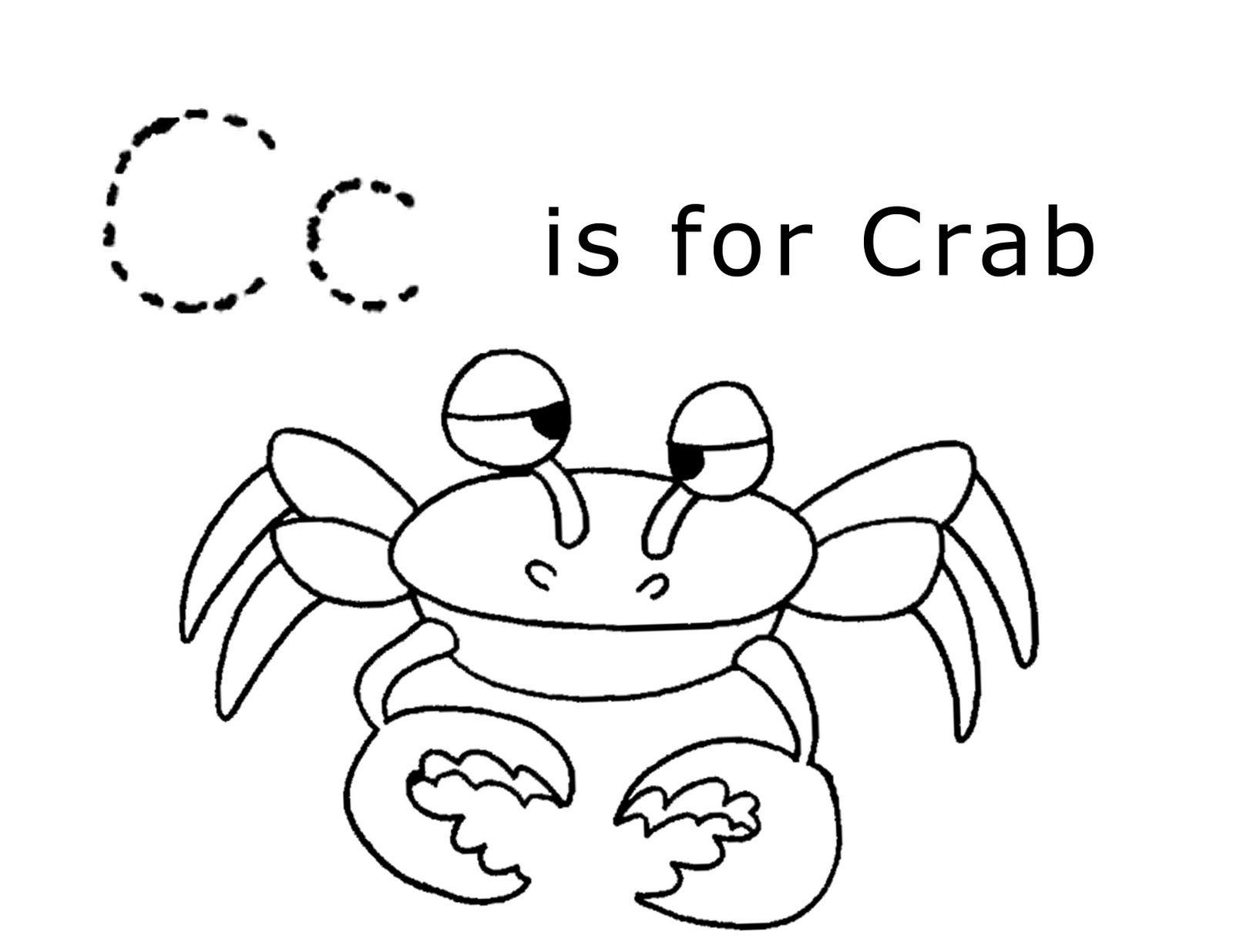 LAWTEEDAH Letter CCrab Letter c coloring pages