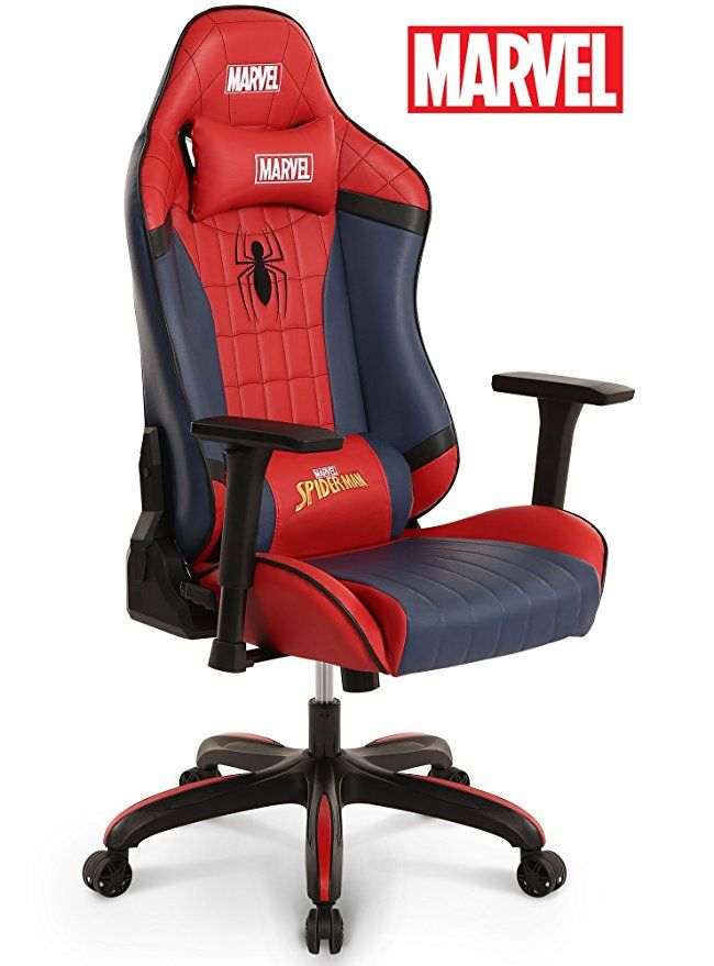 Neo Chair Licensed Marvel Premium Gaming Racing Chair Executive Office Desk Task Computer Home Chair High Back 180 Reclinin Gaming Chair Racing Chair Marvel