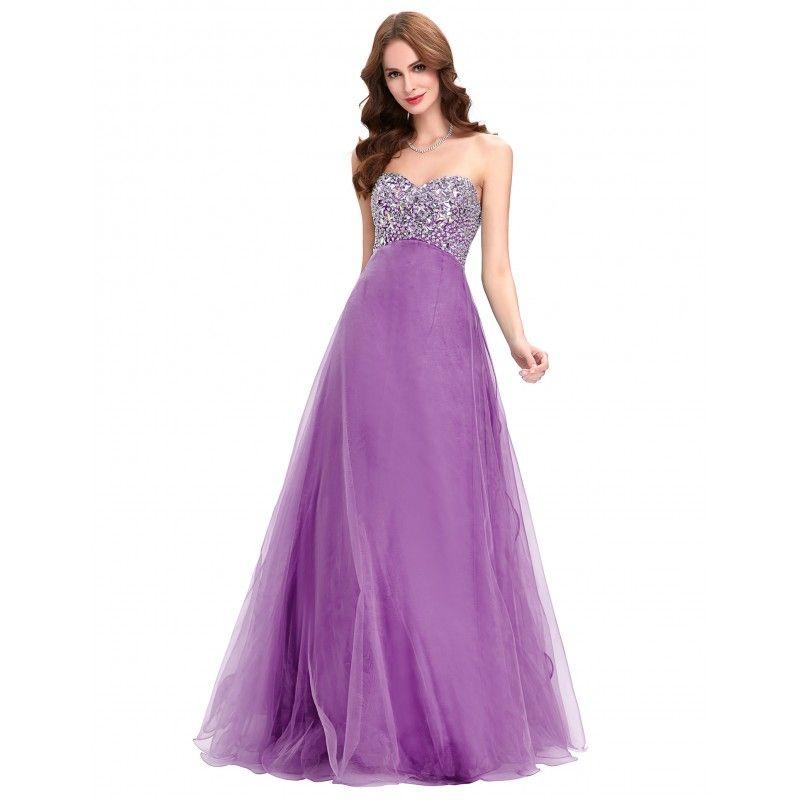 acddd11ef68 Fialové spoločenské šaty CL3107