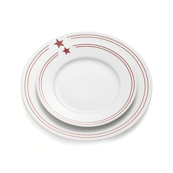 Red Star Dinner Plate | Crate and Barrel  sc 1 st  Pinterest & Red Star Dinner Plate | Crate and Barrel | Outdoor Space | Pinterest ...