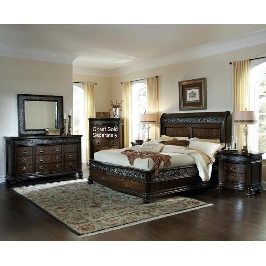 4 Piece King Bedroom Set King Bedroom Sets Bedroom Set Master