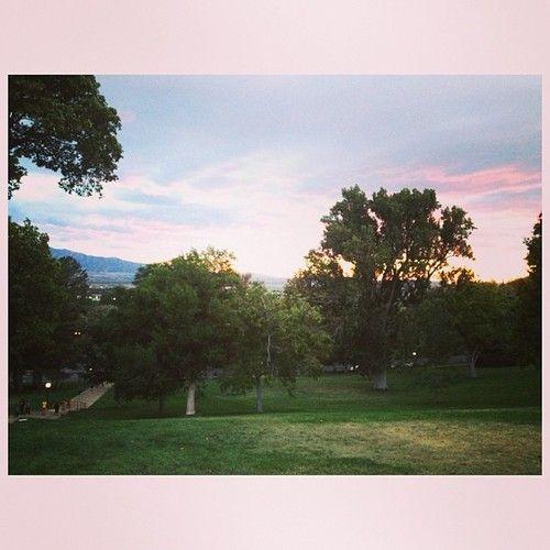 #oldmain #sunset #utahstate
