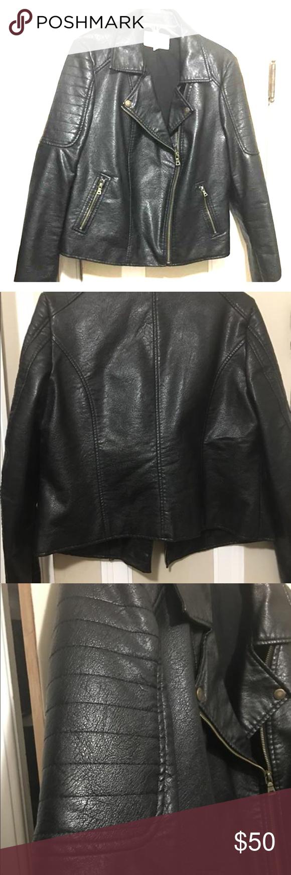 Vince Camuto Vegan Moto Jacket Jackets Clothes Design Moto Jacket [ 1740 x 580 Pixel ]