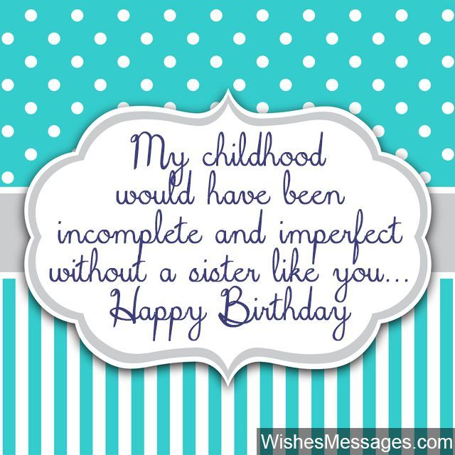 Cute birthday greeting card for sister of any age – Cute Birthday Card Sayings