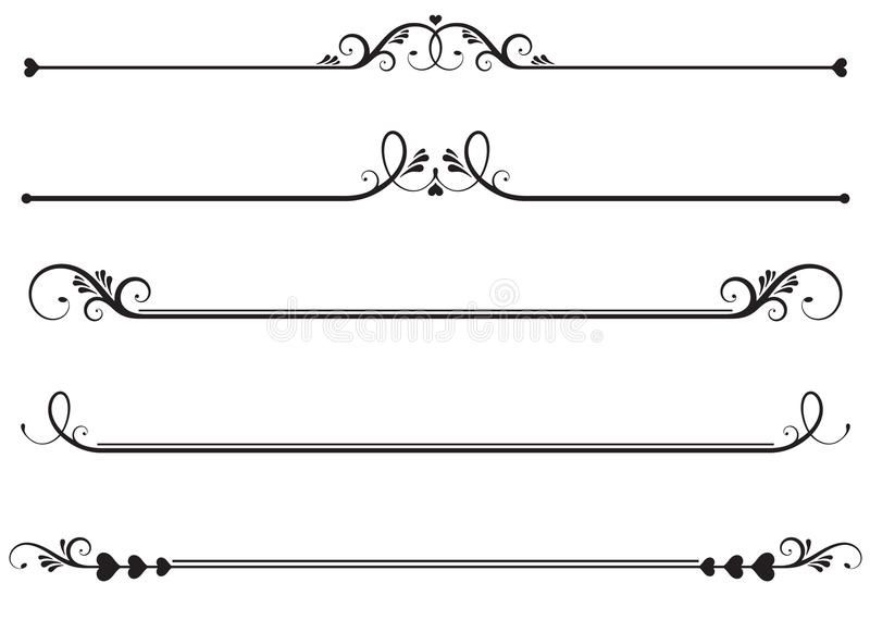 Ornamental Rule Lines Set Of Ornamental Floral Rule Lines Decorative Underline Spon Lines Set Ornamental Stock Images Free Ornaments Logo Templates