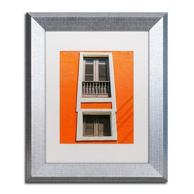 """Trademark Art """"Old San Juan 6"""" by CATeyes Framed Photographic Print Size:"""